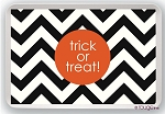 Chevron Halloween serving tray