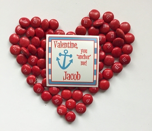 You ANCHOR my heart Valentine labels - set of 24