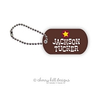 Personalized dog tags - set of 2 - WILD WEST