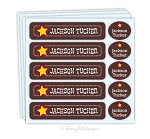 waterproof name label packs - set of 48 - WILD WEST