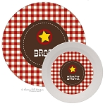Personalized Kids Melamine Dinnerware - WILD WEST