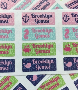 waterproof name labels - set of 72 - ANCHORS