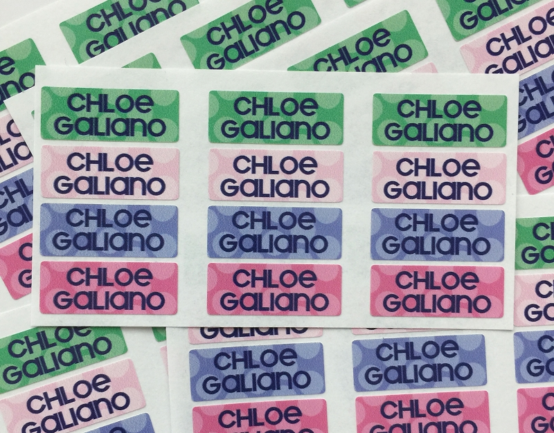 waterproof name labels - set of 72 - SAILOR DOTS