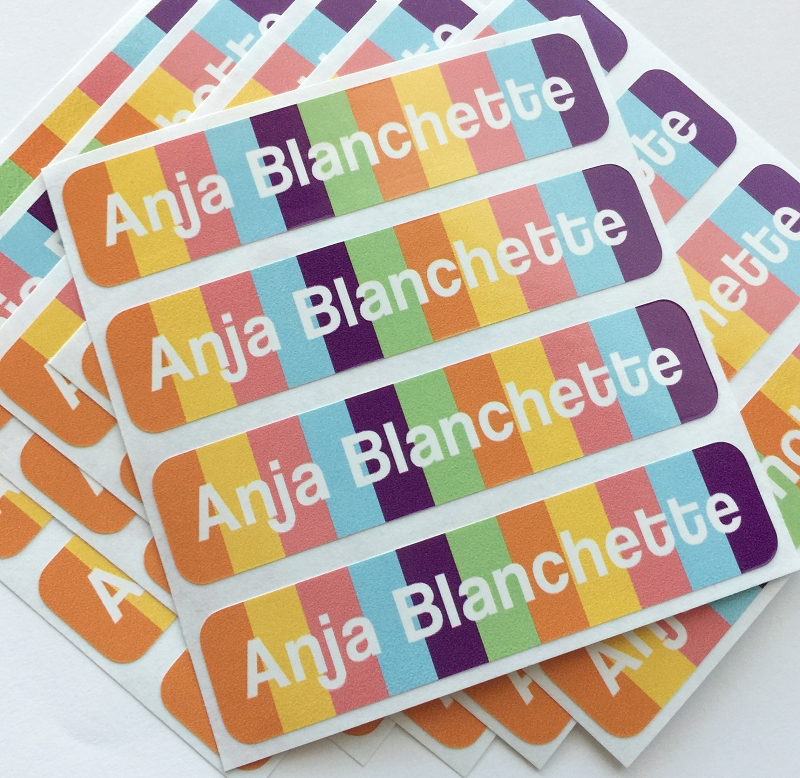 waterproof name labels - set of 24 - CANDY