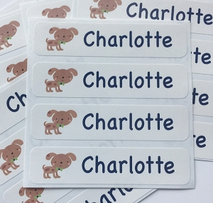 waterproof name labels - set of 24 -  DOG