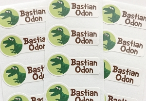 waterproof name labels - set of 26 - DINOSAUR