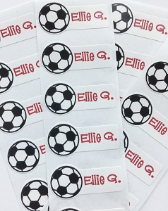 waterproof name labels - set of 26 - SOCCER