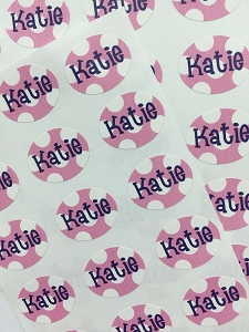 waterproof name labels - set of 66 - SAILOR PINK