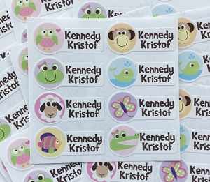 waterproof name labels - set of 64 - HOOTENANNY