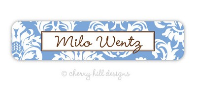 waterproof name labels - set of 24 - CALAIS BLUE