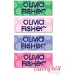 personalized waterproof labels for school - sailor dots