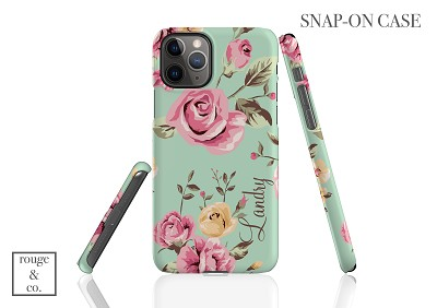 Personalized iPhone Case - FLORAL GREEN