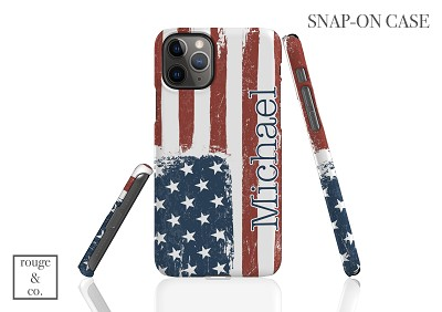 Personalized iPhone Case - AMERICAN FLAG