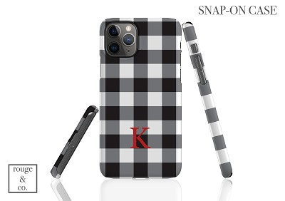 Personalized iPhone Case - BUFFALO CHECK BLACK