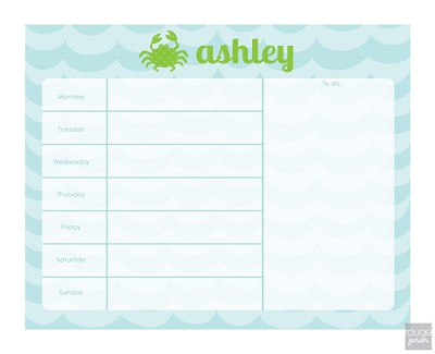 "Stay organized with our 14""x11"" dry erase weekly planner. Lists every day of the week on the left and a big space to write important things ""To Do"" on the right. Great for a kid's bedroom, dorm room, or study desk. Makes an adorable chore chart too! Magnet and wall mount hardware are both included – plus a dry erase marker and attachable clip."