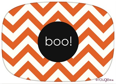 cute orange chevron with your customized text in the center