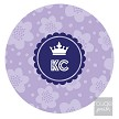 "Adorable personalized addition to any ho-hum workstation. This 8"" round mousepad is printed with your custom monogram. Soft polyester fabric on top with a rubber no-slip backing. Handwash in warm, soapy water to clean."