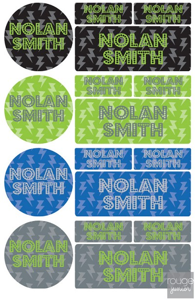 No sewing necessary! Assorted size name labels in smooth, itch-free iron on material. Perfect for labeling school uniforms, jackets, sweaters, clothing, summer camp gear, cloth diapers, tote bags...anything that leaves the house! Labels are permanent, and can be machine washed and dried!