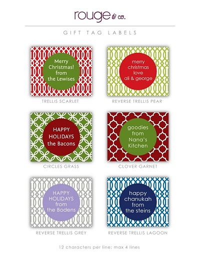 "Easy-order 3.5""x2.75"" waterproof labels for holiday gifts and homemade goodies! Set of 24 labels. **click photo to enlarge**"