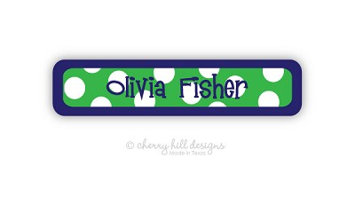 waterproof name labels - set of 24 - SAILOR GREEN